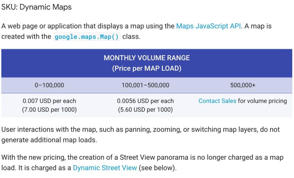 GoogleMapのAPIは一体いくらまではタダで使えるのか?